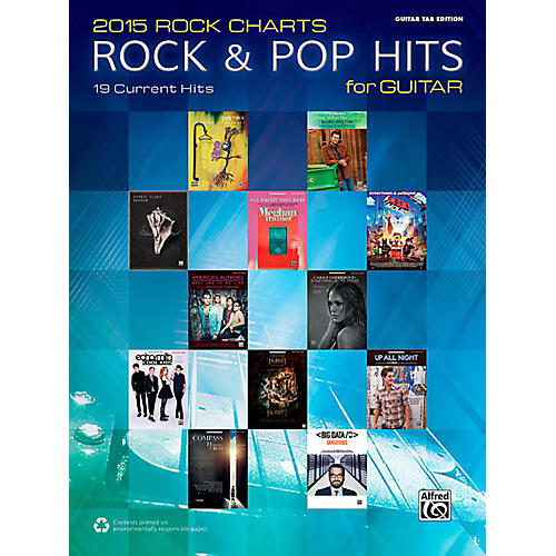 Alfred 2015 Rock Charts: Rock & Pop Hits for Guitar - Guitar TAB Edition Songbook-thumbnail