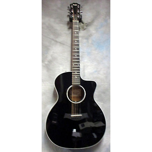 used taylor 214ce deluxe acoustic electric guitar black guitar center. Black Bedroom Furniture Sets. Home Design Ideas