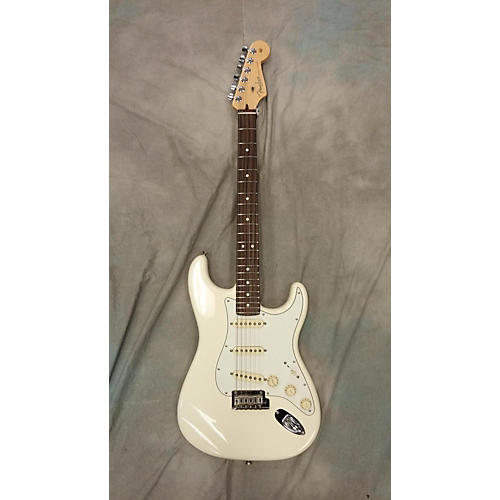 used fender american standard stratocaster solid body electric guitar olympic white guitar center. Black Bedroom Furniture Sets. Home Design Ideas