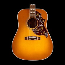 Gibson 2016 Hummingbird Square Shoulder Dreadnought Acoustic-Electric Guitar Heritage Cherry