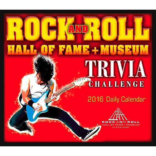 Hal Leonard 2016 Rock And Roll Hall Of Fame Daily Boxed Calendar