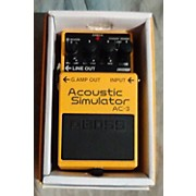 Boss 2017 AC3 Acoustic Simulator Effect Pedal
