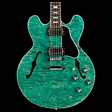 Gibson 2017 Limited Edition ES-335 Figured Semi-Hollow Electric Guitar Green 5-ply Black Pickguard