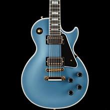 Gibson Custom 2017 Limited Run Les Paul Custom Solid Body Electric Guitar Pelham Blue 5-ply Black Pickguard