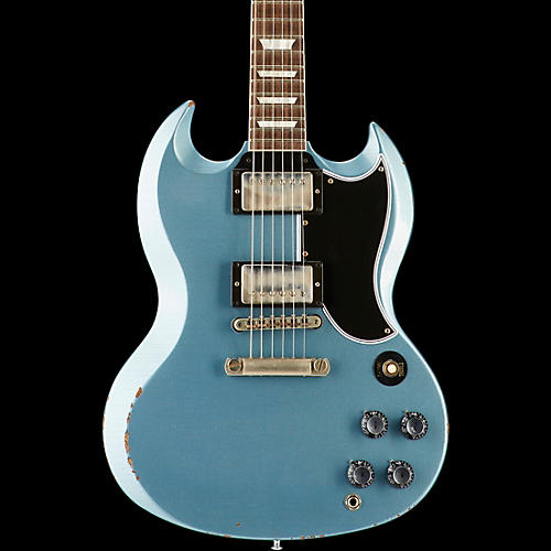 gibson custom 2017 limited run sg standard heavy aged electric guitar antique pelham blue 5 ply. Black Bedroom Furniture Sets. Home Design Ideas