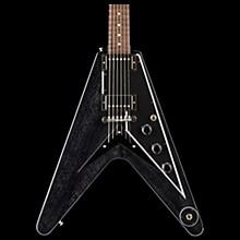 Gibson Custom 2018 Flying V Mahogany TV Electric Guitar TV Black Silver Black Pickguard