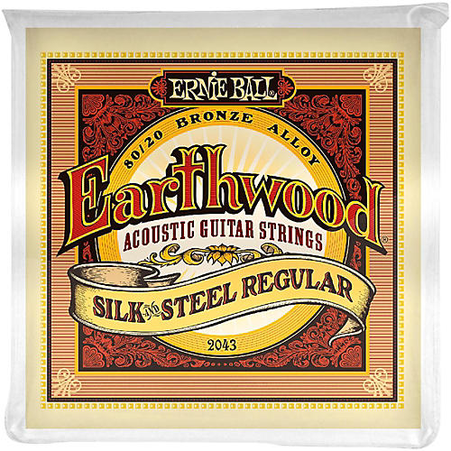 Ernie Ball 2043 Earthwood 80/20 Bronze Silk and Steel Acoustic Guitar Strings-thumbnail