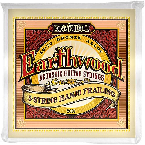 Ernie Ball 2061 Earthwood 80/20 Bronze 5-String Banjo Frailing Strings-thumbnail