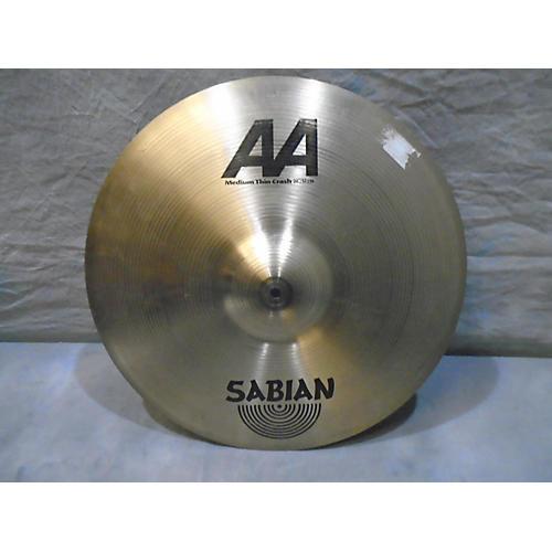 Sabian 20in AA Medium Thin Crash Cymbal-thumbnail