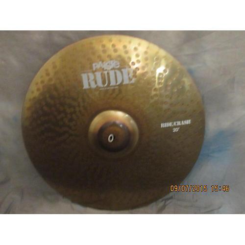 Paiste 20in Rude Ride/Crash Cymbal-thumbnail