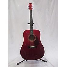 Squier 20th Anniversary Acoustic Red Acoustic Guitar
