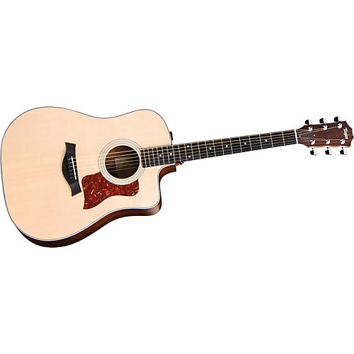 Taylor 210CE-G Acoustic-Electric Guitar with Gloss Finish Natural