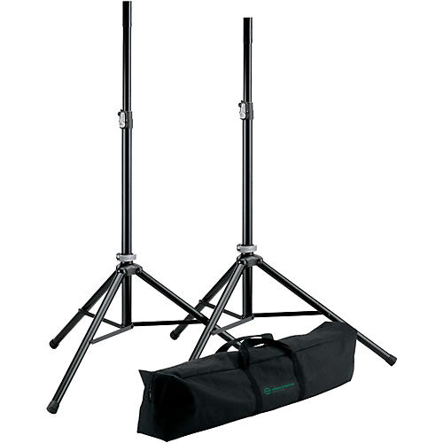 K&M 21449.000.55 Two Speakers Stands with Carry Bag-thumbnail