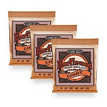 Ernie Ball 2148 Earthwood Phosphor Bronze Light Acoustic Guitar Strings Kit