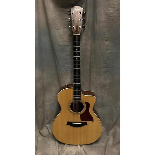 used taylor 214ce dlx acoustic electric guitar natural guitar center. Black Bedroom Furniture Sets. Home Design Ideas
