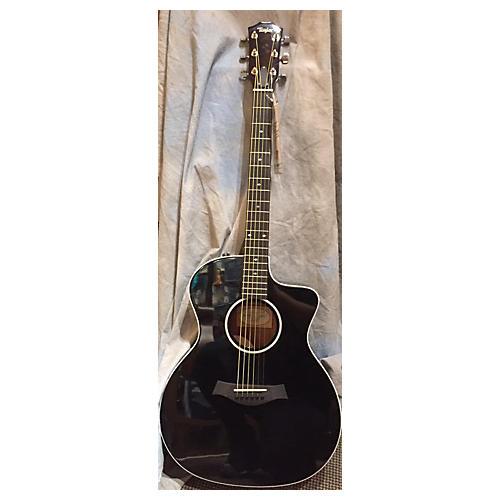 Taylor 214CE DLX BLK Acoustic Electric Guitar-thumbnail