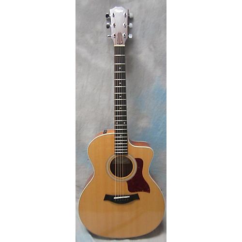 used taylor 214ce koa acoustic electric guitar natural guitar center. Black Bedroom Furniture Sets. Home Design Ideas