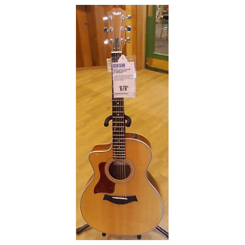 Taylor 214CE Koa Left Handed Acoustic Electric Guitar-thumbnail