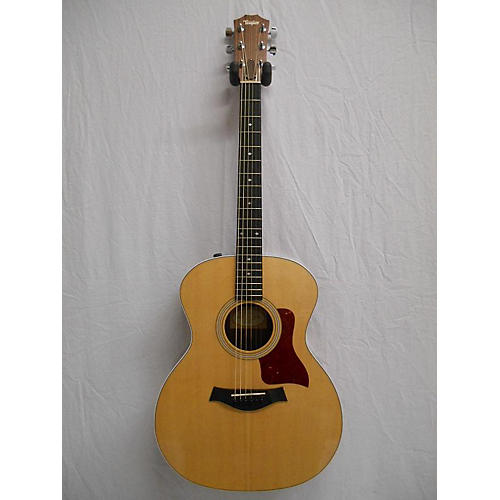 used taylor 214e deluxe acoustic guitar natural guitar center. Black Bedroom Furniture Sets. Home Design Ideas