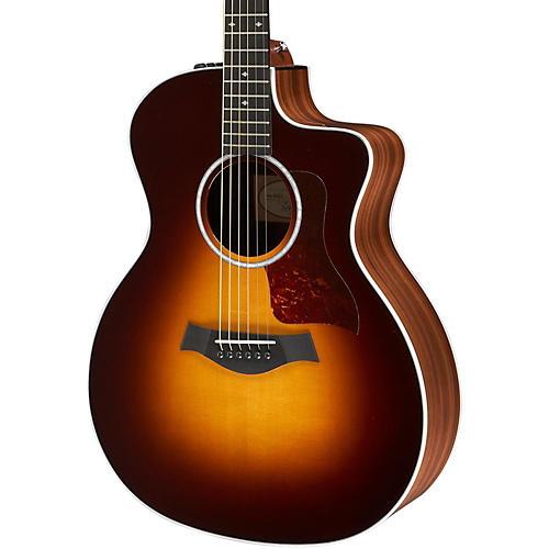 Taylor 214ce Deluxe Grand Auditorium Cutaway Acoustic-Electric Guitar Tobacco Sunburst