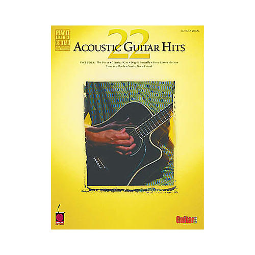 Hal Leonard 22 Acoustic Guitar Hits Book-thumbnail