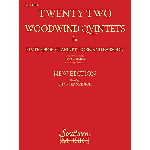 Southern 22 Woodwind Quintets - New Edition Southern Music by Albert Andraud Arranged by Charles Neidich