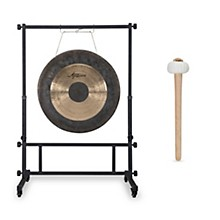 Agazarian 22 in. Wind Gong with Mallet and Stand