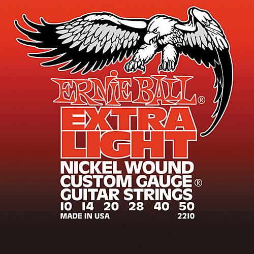 Ernie Ball 2210 Slinky Nickel Wound Extra Light Electric Guitar Strings-thumbnail