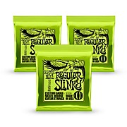 2221 Nickel Regular Slinky Electric Guitar Strings 3 Pack