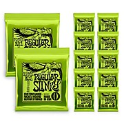 Ernie Ball 2221 Nickel Slinky Lime Guitar Strings - Buy 10, Get 2 Free