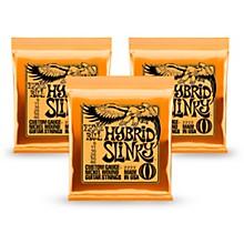 Ernie Ball 2222 Nickel Hybrid Slinky Orange Electric Guitar Strings 3 Pack