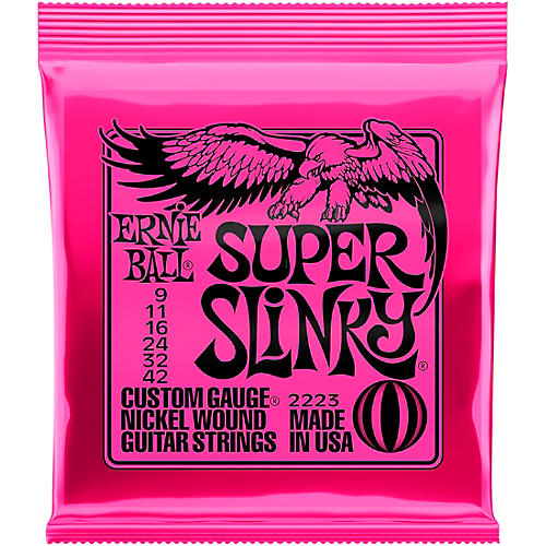 ernie ball 2223 nickel super slinky custom gauge electric guitar strings guitar center. Black Bedroom Furniture Sets. Home Design Ideas
