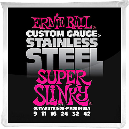 Ernie Ball 2248 Super Slinky Stainless Steel Electric Guitar Strings-thumbnail