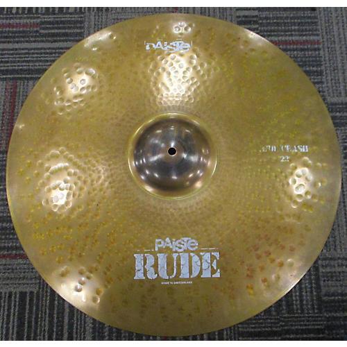Paiste 22in Rude Classic Crash Ride Cymbal-thumbnail