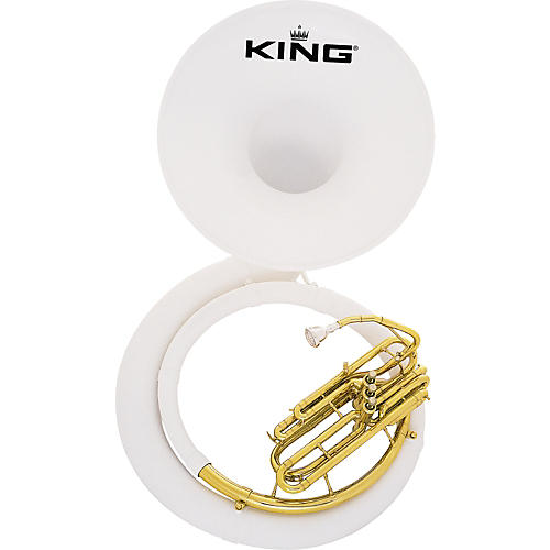 King 2370 Fiberglass Sousaphone 2370W Instrument With Case
