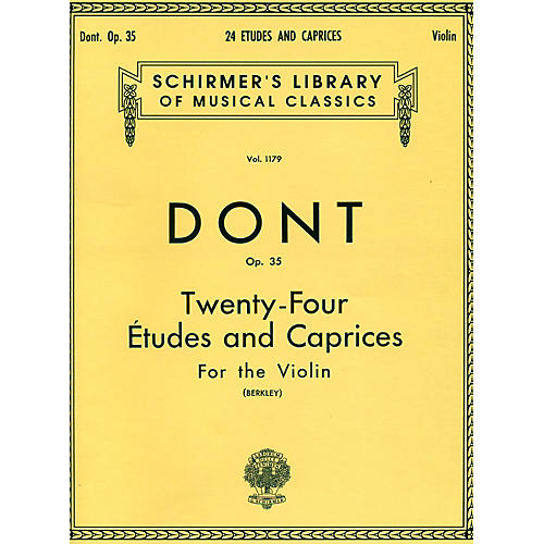 G. Schirmer 24 Etudes And Caprices for The Violin Op 35 By Dont-thumbnail