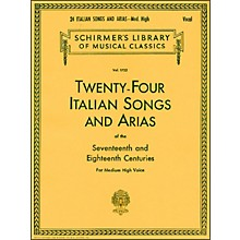 G. Schirmer 24 Italian Songs And Arias for Medium High Voice Book Only