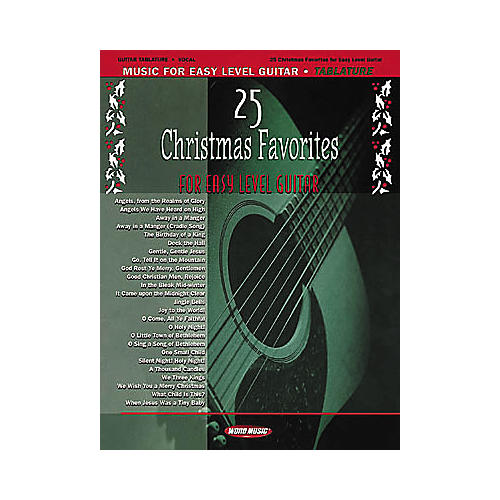 Word Music 25 Christmas Favorites for Easy Level Guitar Book-thumbnail