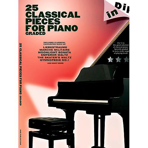 Music Sales 25 Classical Pieces For Piano Graded - Dip In Series-thumbnail