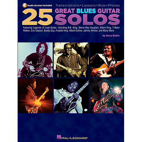 Hal Leonard 25 Great Blues Guitar Solos (Book/CD)-thumbnail