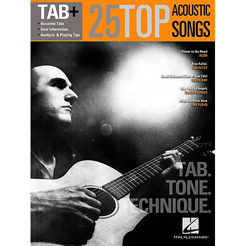 Hal Leonard 25 Top Acoustic Songs-Tab. Tone. Technique.-thumbnail
