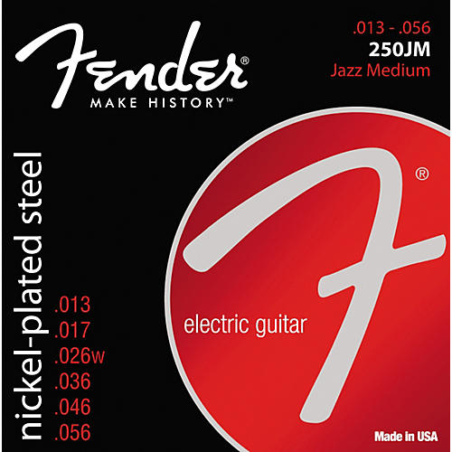Fender 250JM Super 250 Nickel-Plated Steel Electric Strings - Jazz Medium-thumbnail