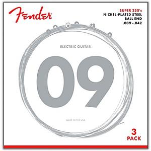 Fender 250L Super 250 Nickel-Plated Steel Electric Guitar Strings 3 Pack by Fender