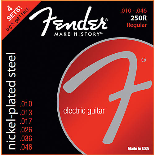 Fender 250R Nickel Plated Steel 10-46 4 pk