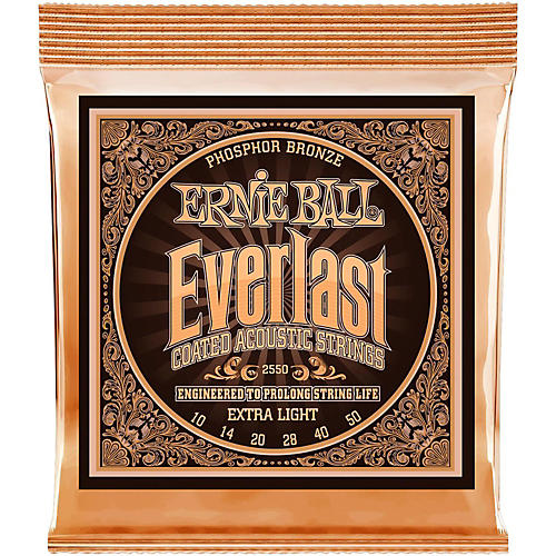 Ernie Ball 2550 Everlast Phosphor Extra Light Acoustic Guitar Strings-thumbnail