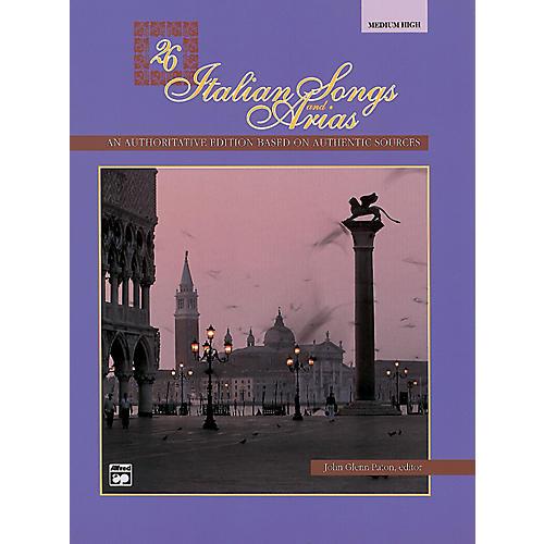 Alfred 26 Italian Songs and Arias Book (Medium High)