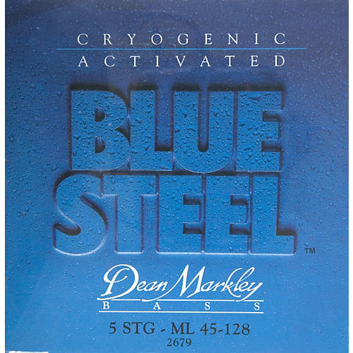 Dean Markley 2679 Blue Steel Medium/Long 5-String Bass Strings-thumbnail