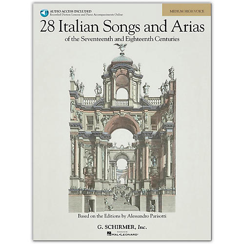 G. Schirmer 28 Italian Songs And Arias for Medium High Book/Online Audio-thumbnail