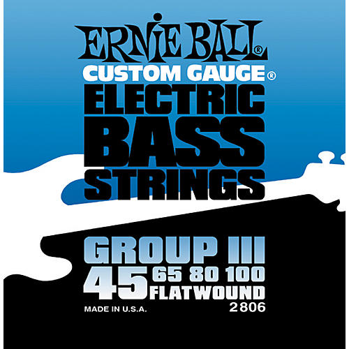 Ernie Ball 2806 Flat Wound Group III Electric Bass Strings-thumbnail