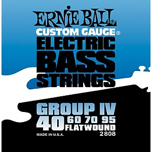 Ernie Ball 2808 Flat Wound Group IV Electric Bass Strings by Ernie Ball